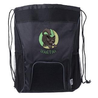 Chibi Wolfpup Drawstring Backpack