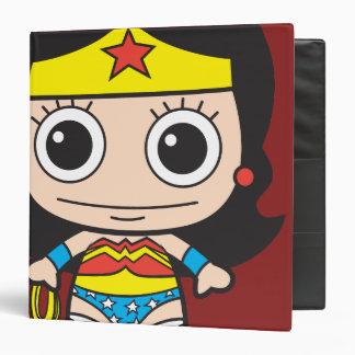 Chibi Wonder Woman 3 Ring Binder