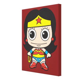 Chibi Wonder Woman Stretched Canvas Print
