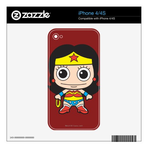 Chibi Wonder Woman Decal For The iPhone 4S