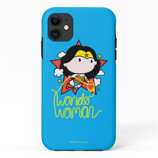 Chibi Wonder Woman Flying With Lasso iPhone 11 Case