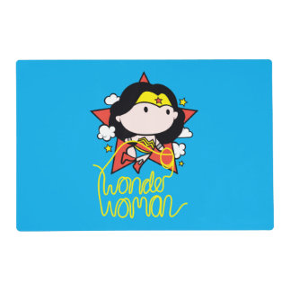 Chibi Wonder Woman Flying With Lasso Placemat