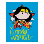 Chibi Wonder Woman Flying With Lasso Poster