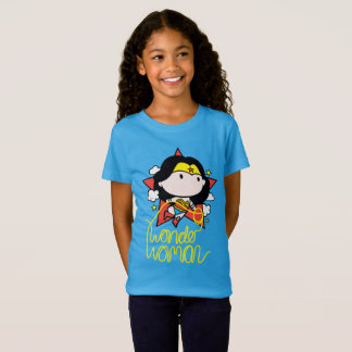 Chibi Wonder Woman Flying With Lasso T-Shirt