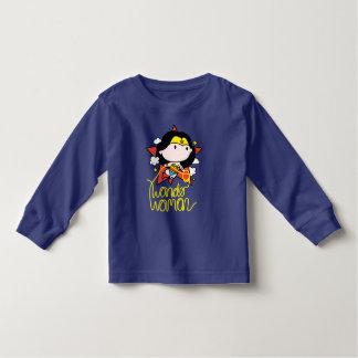Chibi Wonder Woman Flying With Lasso Toddler T-shirt