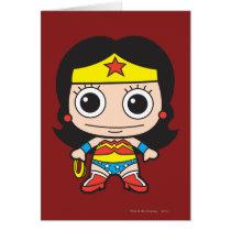 batman, cat woman, superman, wonder woman, batgirl, flash, dc comics, justice league, chibi super heroes, japanese toy cartoon, Card with custom graphic design