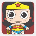 Chibi Wonder Woman Square Sticker