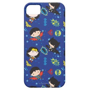 Chibi Wonder Woman, Superman, and Batman Pattern iPhone SE/5/5s Case