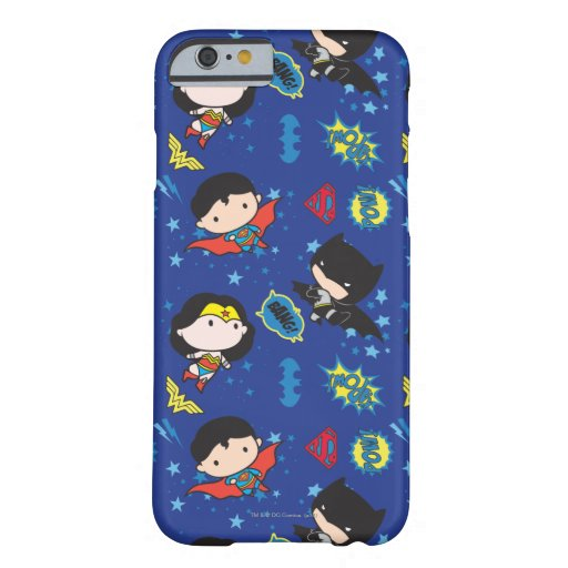 Chibi Wonder Woman, Superman, and Batman Pattern Barely There iPhone 6 Case