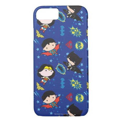 Chibi Wonder Woman, Superman, and Batman Pattern iPhone 8/7 Case