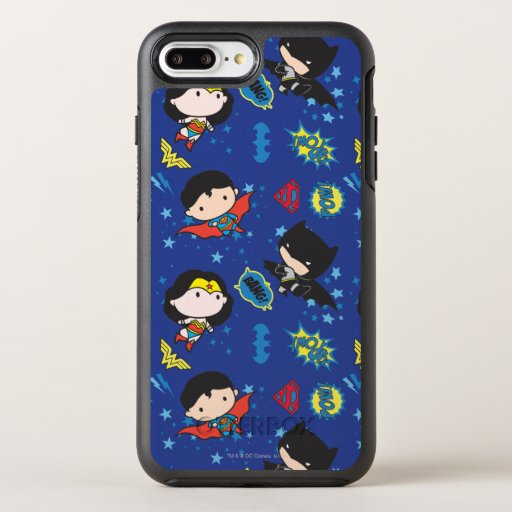 Chibi Wonder Woman, Superman, and Batman Pattern OtterBox Symmetry iPhone 8 Plus/7 Plus Case