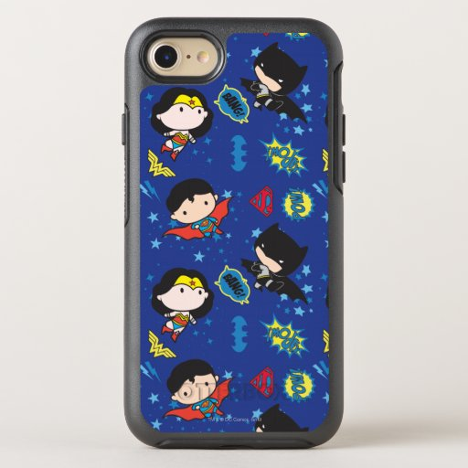Chibi Wonder Woman, Superman, and Batman Pattern OtterBox Symmetry iPhone SE/8/7 Case