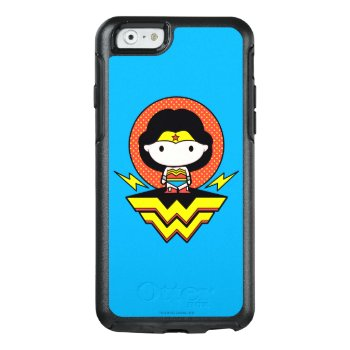 Chibi Wonder Woman With Polka Dots And Logo Otterbox Iphone 6/6s Case by JusticeLeague at Zazzle