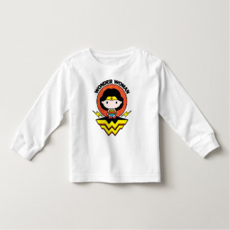 Chibi Wonder Woman With Polka Dots and Logo Toddler T-shirt