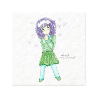 Chibi Yuriko Casual Fashion Canvas Canvas Print
