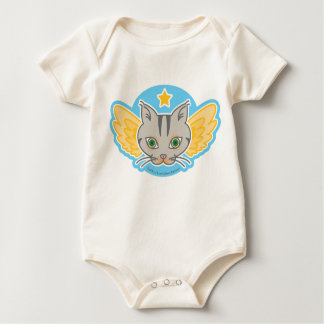 ChibiKat is catching a star, Baby Organic Bodysuit
