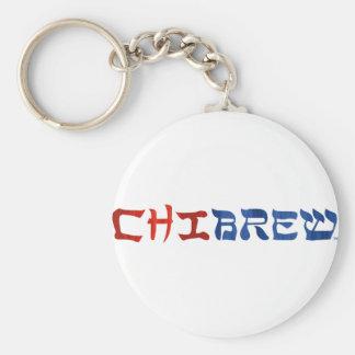ChiBrew Basic Round Button Keychain