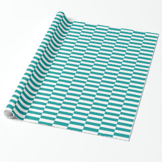 CHIC 248 TURQUOISE/WHITE STRIPES WRAPPING PAPER