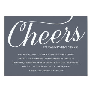 Twenty Fifth Wedding Anniversary Cards - Greeting & Photo Cards | Zazzle