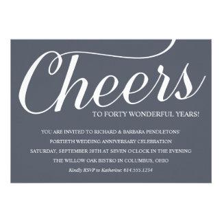 Chic 40th Wedding Anniversary Party Invitation