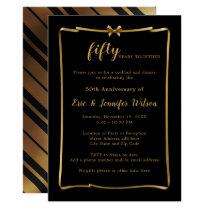 Chic 50th or ANY YEAR Wedding Anniversary Invitation