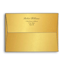 Chic 7 x 5 Gold Mailing Envelopes Return Address