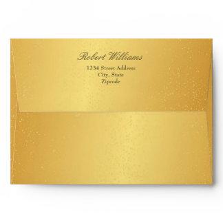 Chic 7 x 5 Gold Mailing Envelopes Return Address