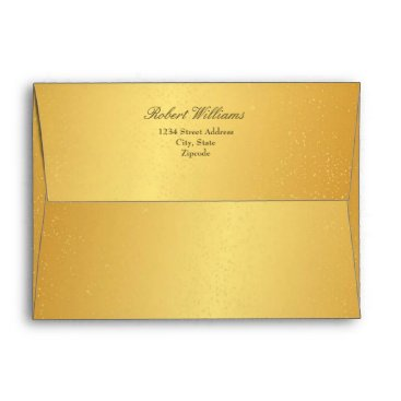 Professional Business Chic 7 x 5 Gold Mailing Envelopes Return Address
