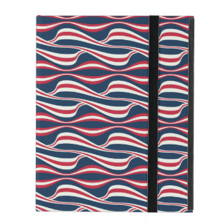 Chic abstract american Labor Day Pattern iPad Folio Case