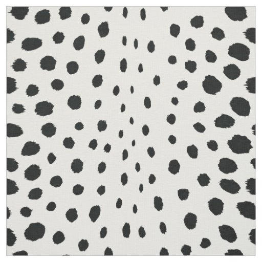 Chic Abstract Black White Cheetah Print Pattern Fabric