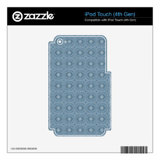 Chic Abstract Diamond Blue Ipod Touch 4th Gen Skin Skins For iPod Touch 4G