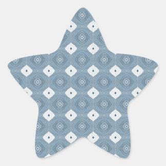 Chic Abstract Diamond Blue Sticker