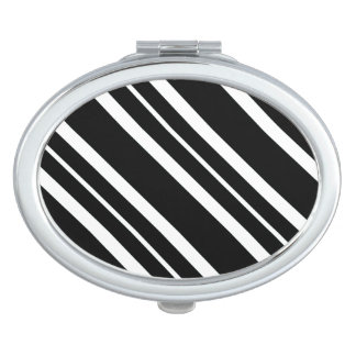 """""""Chic Accents"""" Black & White Compact Mirror"""