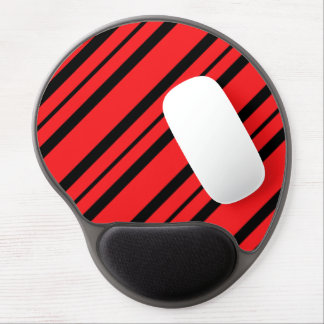 """Chic Accents"" Red & Black Mousepad Gel Mouse Pad"