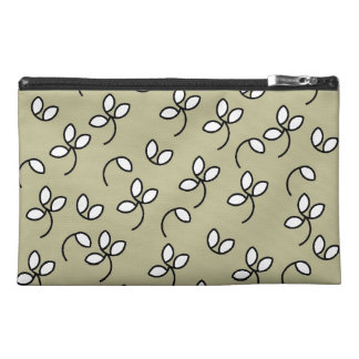 CHIC ACCESSORIES BAG_193 STONE WHITE FLORAL TRAVEL ACCESSORIES BAGS