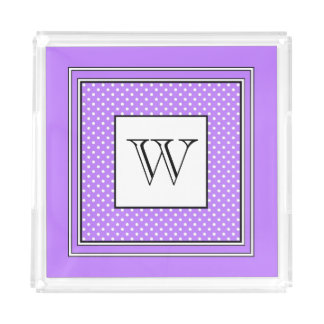 CHIC ACRYLIC TRAY_ 191 PURPLE/WHITE DESIGN ACRYLIC TRAY