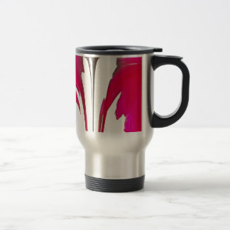 Chic amazing Red rose under the white sky.png Travel Mug