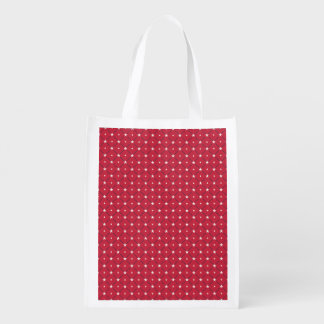Chic american Labor Day Pattern with Stars Reusable Grocery Bag