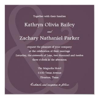 Chic Ampersand Wedding Invitations