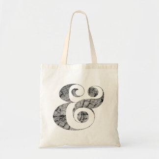 Chic Ampersands | Wood Texture | Tote Bag