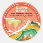 Chic and Contemporary Margarita Address Label Classic Round Sticker