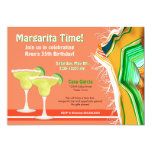 Chic and Contemporary Margarita Party Personalized Invitations