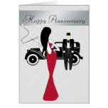 Chic and Elegant Anniversary Card with Vintage Car
