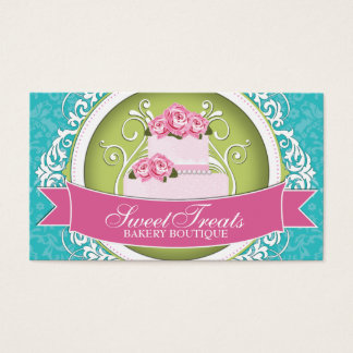 Chic and Elegant Cake Artist Business Cards