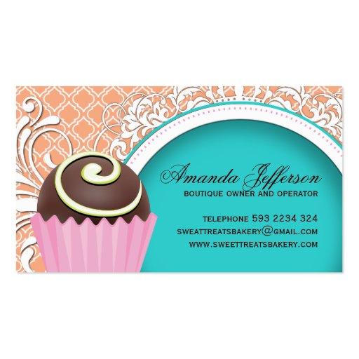 Chic and Elegant Cake Bites Business Cards (back side)