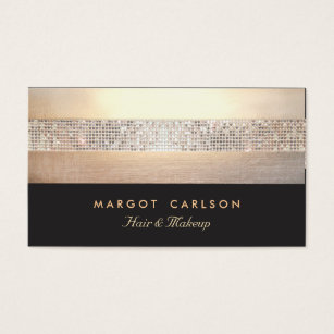 Party entertainer business cards templates zazzle chic and elegant sequin gold black striped business card colourmoves