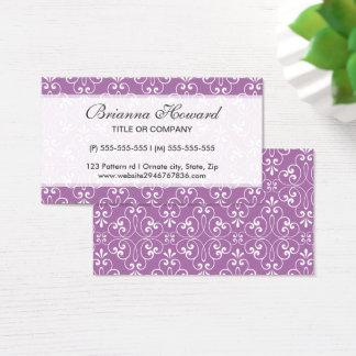 Chic and fashionable stylish ornate damask profile business card