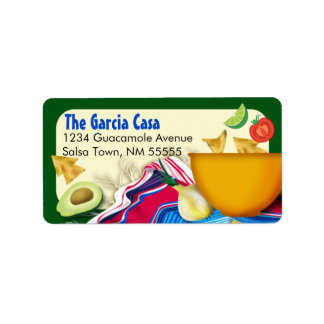 Chic and Fun Mexican Fiesta Address Label