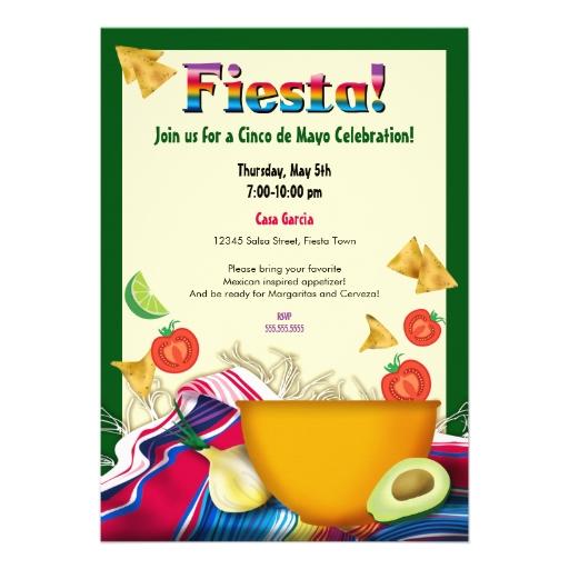 Mexican Fiesta Invitation with luxury invitation template