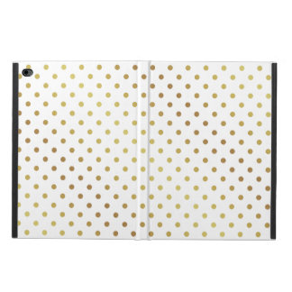 Chic and Girly White and Gold Glitter Polka Dots Powis iPad Air 2 Case